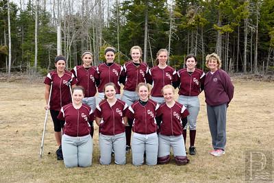 Photo by, Franklin Brown www.franklinbrown.net Girls Softball, George Stevens Academy Team Photo April 20, 2015