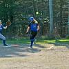 Sports-DIS-softball-OrlyThrowstoAshleyonaBunt-050715-JS