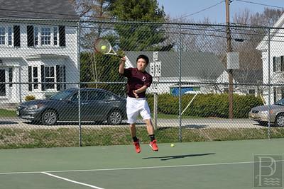 Photo by, Franklin Brown www.franklinbrown.net George Stevens Academy Tennis vs. Lee Academy May 4, 2015