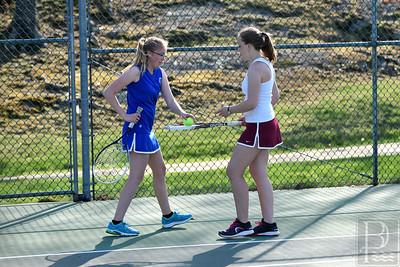 Photo by, Franklin Brown www.franklinbrown.net Boys Tennis George Stevens Academy vs. Deer Isle May 6, 2015
