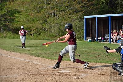 Olivia Stevenson at bat