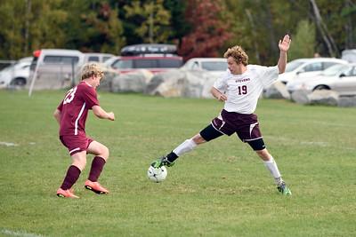 Cameron Gordon defends the ball near the GSA goal. Photo by Franklin Brown