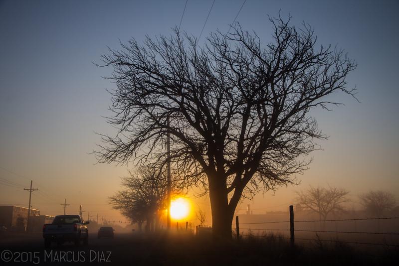 Foggy Amarillo sunrise | March 11