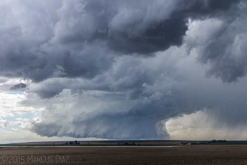 Going south looking at this great supercell.