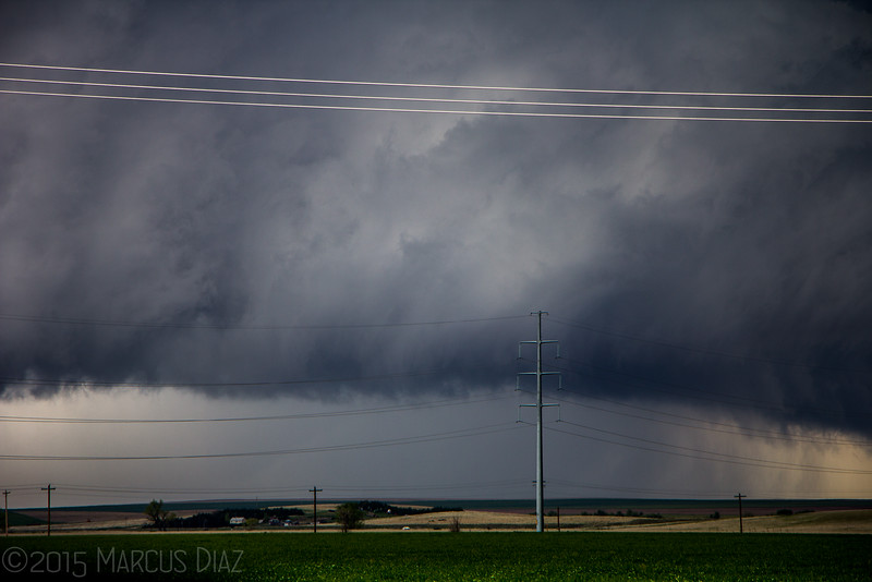 Large cone tornado well to our south in the rain.