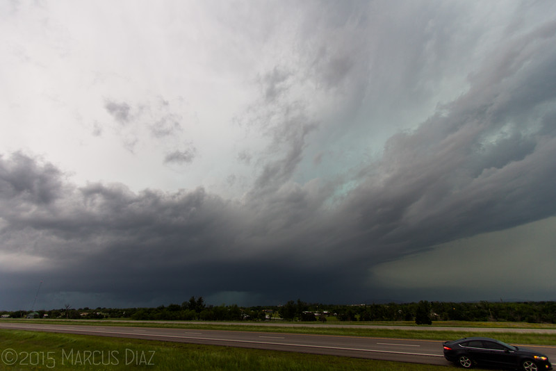 We let the supercell pass us near Cache, OK and decided to head home.