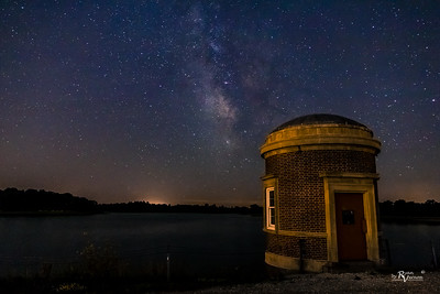 The Milky Way over Maffitt Resevoir in Iowa