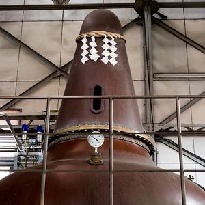 Copper still at the Nikka distillery, Yoichi.