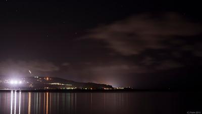 Agana Bay by night, Guam.