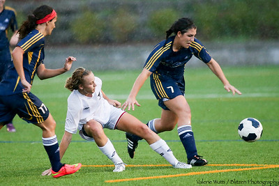 Carleton Ravens Women's Soccer played the Windsor Lancers in exhibition play