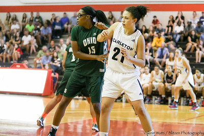 CU Women's Basketball team falls to the Ohio Bobcats in exhibition play.