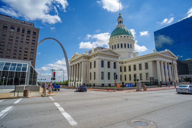 St Louis Gateway Arch and Courthouse