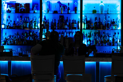 Patrons of the Blue Bar