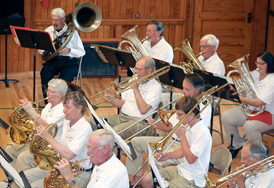 CP Castine July 4 town band horn section 071014 AB