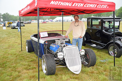 A Vintage Car with a Fairly Recent Engine  Jay Morris of Brooksville shows off his 1933 Ford Roadster.  Morris did all the work himself.  The chassis is a factory fire chassis, while the engine is a 2004 Mustang Mach I.  Photo by Franklin Brown