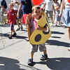 In a Yellow Submarine<br /> Jack Mortimer who has marched in the parade two or three times shows off his yellow submarine costume.  Photo by Franklin Brown