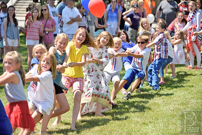 Tug-o-war anyone? Dozens of children, young and old participated in a tug-o-war duruing several events in Castine on July 4th.  Photo by Franklin Brown