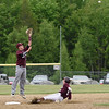 Beckett Slayton successfully steals second base in the first inning of the Eagles semifinal against Mattanawcook.  Photo by Franklin Brown