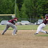 Marshal Lebel successfully steals second base in second inning of hte semifinal.  Photo by Franklin Brown