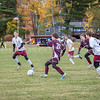 Erik Taylor-Lash moves the ball forwards towards the goal. Photo by Tate Yoder