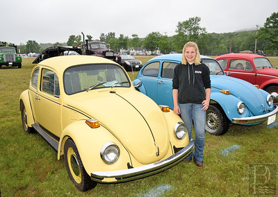 Choose your color  Lanie Billings of Blue Hill stands next to her 1972 Volkswagon Beetle named Willard.  Willard was a four year project between Billings, her father and grandfather.  What started out as just a shell with primer became her dreamcar.  Billings did all of the body work herself.  Photo by Franklin Brown