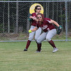 The Eagle outfielders scramble. Photo by Anne Berleant