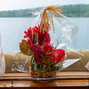 Orchid bouquet delivered from Bora Bora celebrating our 35th anniversary