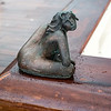 Bronze statue on edge of the ship's pool