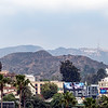 Panorama of  the Hollywood Hills with sign