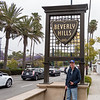 Barry by the Beverly Hills sign
