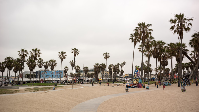 A very overcast day at Venice Beach
