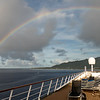 Stunning full rainbow across the ship!