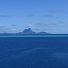 Passing Bora Bora on route to Taha'a