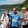 Mercedes & Boni with our guide around Tahiti