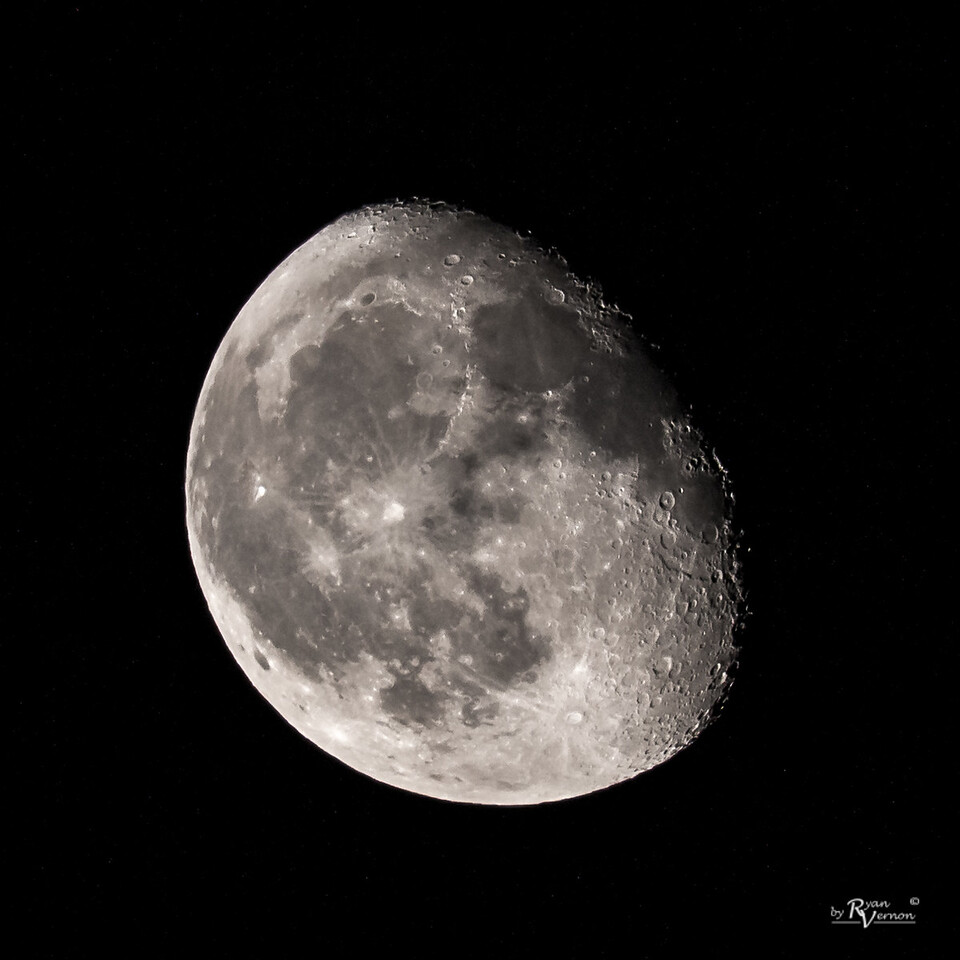 82% illuminated Waning Gibbous Moon