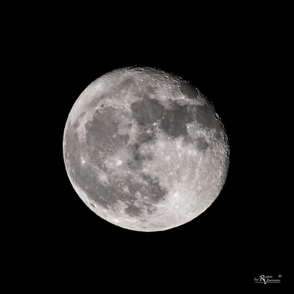94% Illuminated Waning Gibbous Moon
