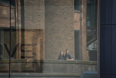 Sis and Bro selfie spotted across the street on a tall building!