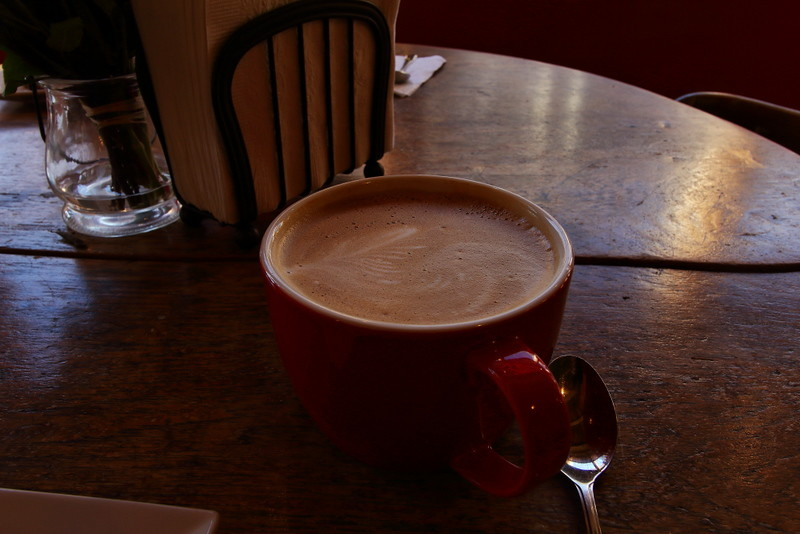Latte at Shop On The Corner, Lunenburg