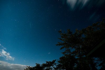 The starry sky seen from Furushiro in Kakunodate.
