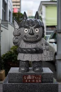 Namahage statue in Akita.