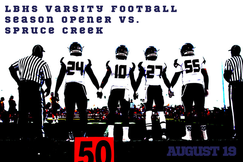 LBHS Varsity Football vs. Spruce Creek High School August 19, 2016, at Spruce Creek, Away,