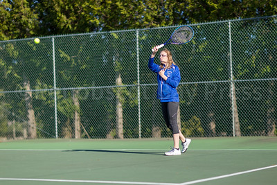 Jordyn Judkins gets some top-spin. Photo by Tate Yoder