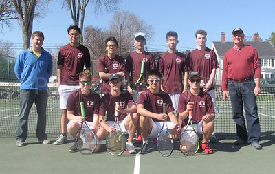 The George Stevens Academy boys varsitytennis team