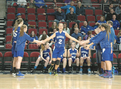 Orly Vaughn takes the court at the Cross Center. Photo by Jack Scott