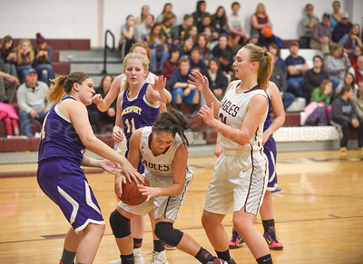 Julianna Allen fights to control the ball. Photo by Franklin Brown