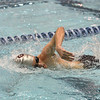 Randy Yan swims the 200 yard freestyle.  Photo by Franklin Brown