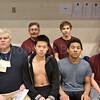 Back Row, Coach Don Driscoll, Evan Soukup, Front Row: Assistant Coach Richard Larson, Randy Yan, Alexander Yap, Jeremiah Scheff. Photo by Jack Scott