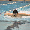 Evan Soukup takes his leg of the 200 yard medley relay. Photo by Franklin Brown