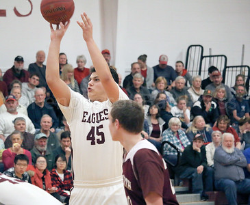Stefan Simmons shoots from the foul line. Photo by Anne Berleant