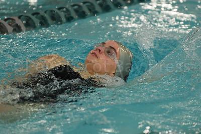 Katie Forrest, Women 100 Yard Backstroke.  Photo by Franklin Brown